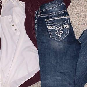 Rock revival bootcut women's jeans